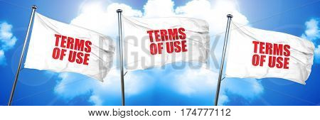 terms of use, 3D rendering, triple flags