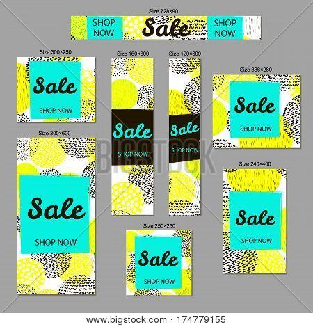 Sale - web banners set standard size