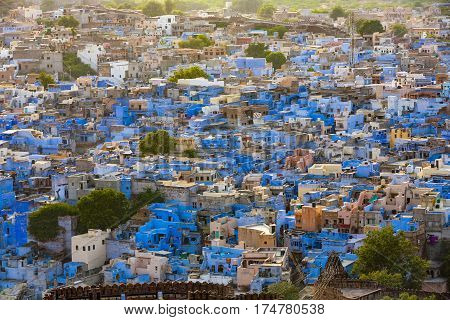 Jodhpur The Blue City In Rajasthan State In India
