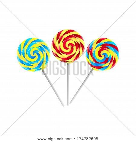 Colorful Candies and sweets set. Vector illustration