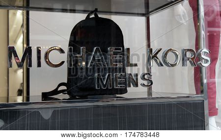 Letters Michael Kors On A Window In Amsterdam