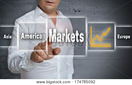 Markets Concept Background Is Shown By Man