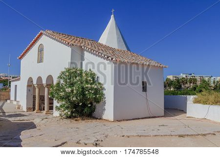 A view of the Chapel of Nossa Senhora da Rocha on the Algarve Portugal