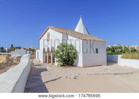 A view of the Chapel of Nossa Senhora da Rocha on the Algarve Portugal