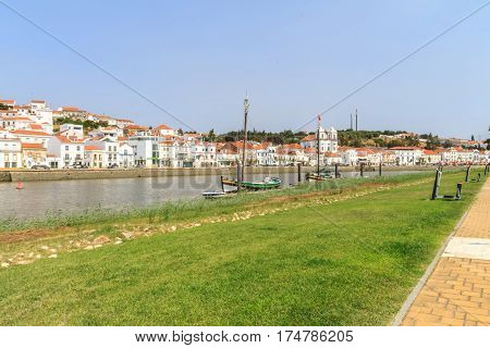 View of Alcácer do Sal in Portugal