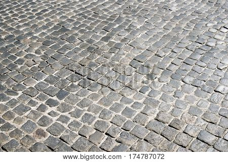 Cobblestone Pavement In Warsaw
