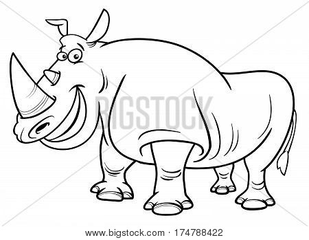 Rhinoceros Character Coloring Page