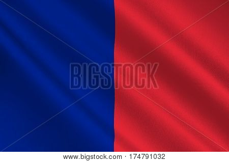 Flag of Paris is the capital and most populous city of France. Vector illustration