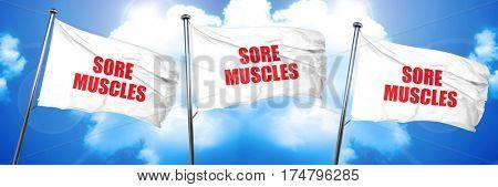 sore muscles, 3D rendering, triple flags