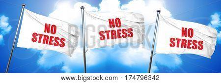 no stress, 3D rendering, triple flags