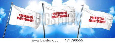 preventive maintenance, 3D rendering, triple flags