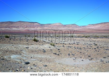 Valley Hill   In    Dry Mountain Ground Isolated