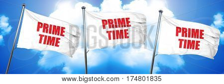 prime time, 3D rendering, triple flags