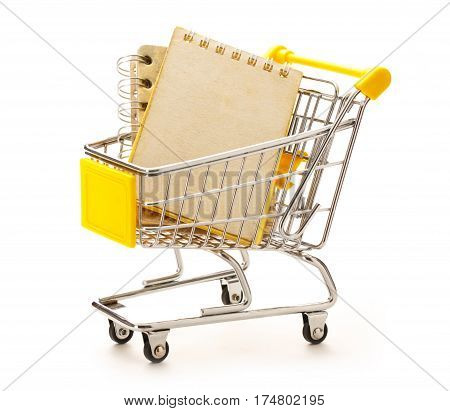 Market Pushcart With Notebooks