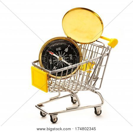 Market Pushcart With Compass