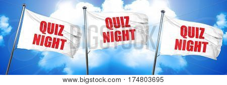 quiz night, 3D rendering, triple flags
