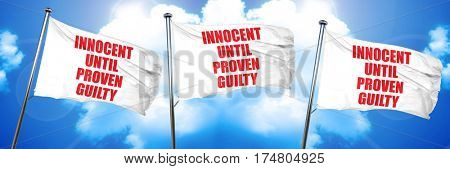 innocent until proven guilty, 3D rendering, triple flags