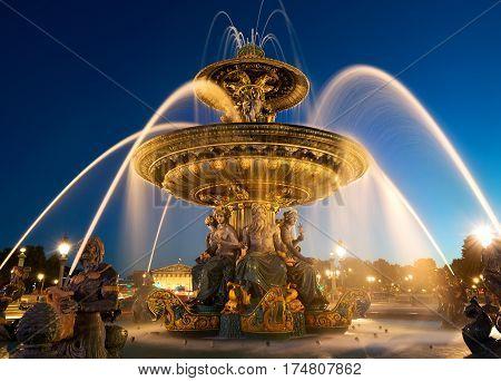 Fountain des Mers at the Place de la Concorde in Paris