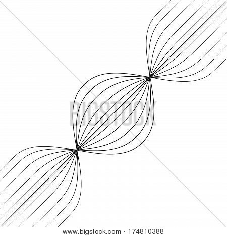 Abstract black lines retro space background for business