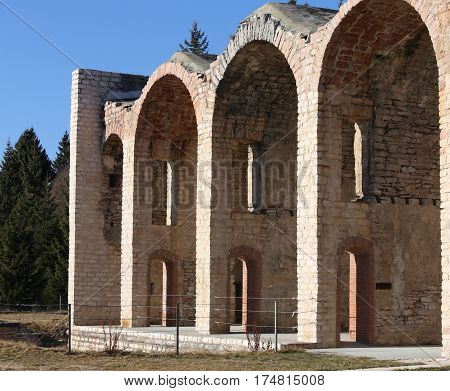 Asiago, Vi Italy Ancient Fort Of World War I Called Forte Interr