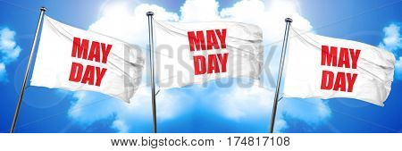 mayday, 3D rendering, triple flags