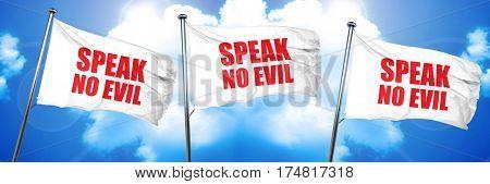 speak no evil, 3D rendering, triple flags