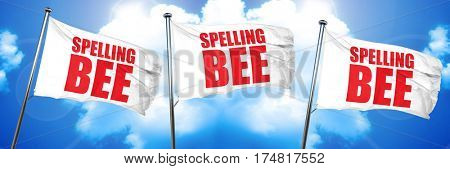 spelling bee, 3D rendering, triple flags