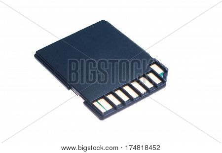 The Black memory cards on white background