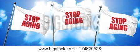 stop aging, 3D rendering, triple flags