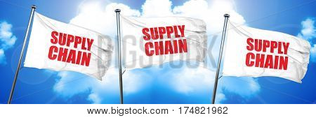 supply chain, 3D rendering, triple flags