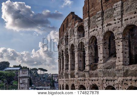 Colosseum - Flavian Amphitheatre in Rome in Italy
