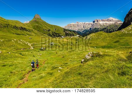 Rifugio Ciampac Sella Group - Dolomites Mountains Italy Europe
