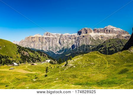 Rifugio Ciampac Sella Group - Dolomites Mountains Italy Europe