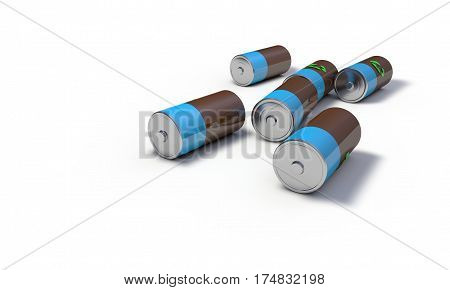 Background Of Battery Recycling Models, 3D Render