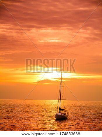 Hideaway Scene On a Sunset Beach