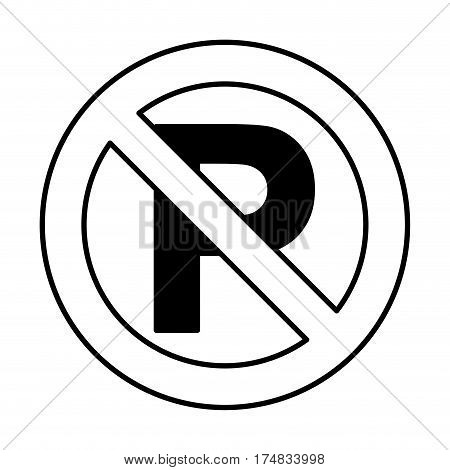 dont parking traffic sign vector illustration design