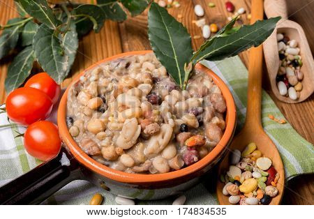 Vegetable Soup With Cereals And Legumes