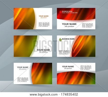 Business Card Layout Template Set32