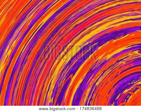 Illustration of bright colorful circular striped abstract pattern background