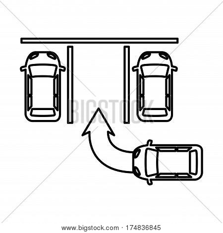 parking area isolated icon vector illustration design