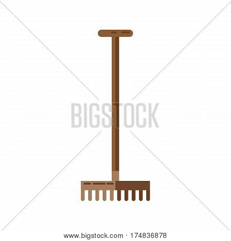 Simple vector icon of rakes on white background.