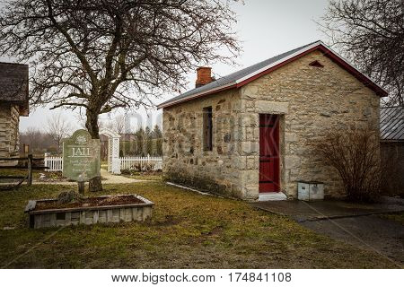 Creemore's Historical Jail in Creemore, Ontario Canada