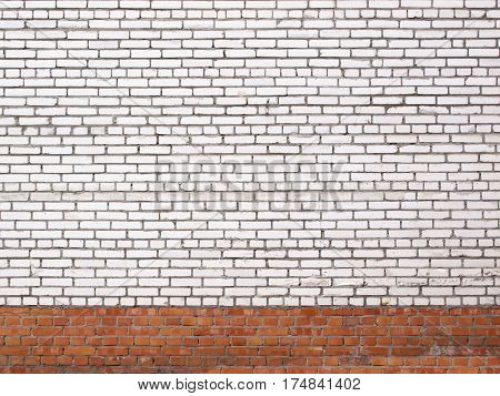 Grunge White Brick Wall, Stone Surface As A Background
