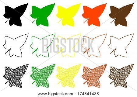 ivy leaf - color set , ivy leaf