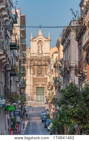 View Of The Catholic Church In Catania, Sicily