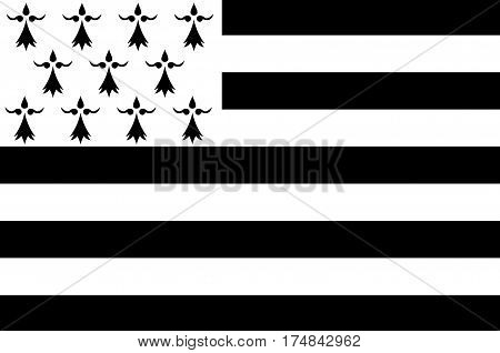 Flag of Brittany is one of the 18 regions of France. The regional capital is Rennes