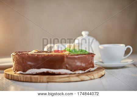 Sacher Torte Chocolate Cake With Marzipan