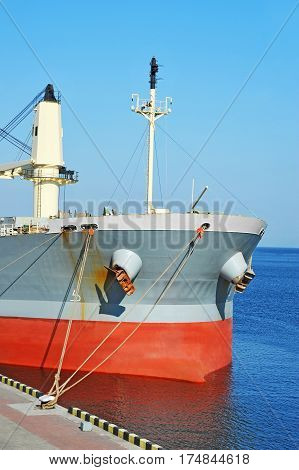 Bulk carrier ship in port of Odessa Ukraine