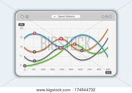 Line Chart Design Modern Infographic, vector template