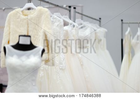 Beautiful Bridal Or Bridesmaid Dresses On A Mannequin